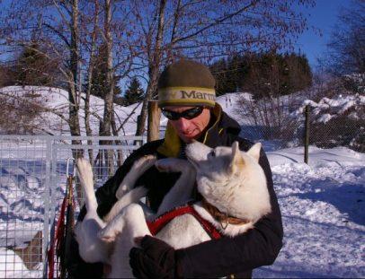 Thibault et Grany sa chienne de tête